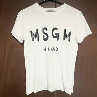 エムエスジイエム(MSGM)のMSGM ロゴTシャツ ホワイト 白(Tシャツ(半袖/袖なし))