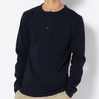 アヴィレックス(AVIREX)の新品アヴィレックスSサイズヘンリーネックロンティー!(Tシャツ/カットソー(七分/長袖))