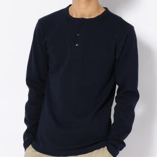 アヴィレックス(AVIREX)の新品アヴィレックスMサイズヘンリーネック定番ロンティー!(Tシャツ/カットソー(七分/長袖))