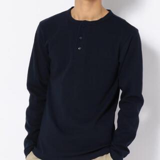アヴィレックス(AVIREX)の新品アヴィレックスLサイズヘンリーネックロンティー!(Tシャツ/カットソー(七分/長袖))