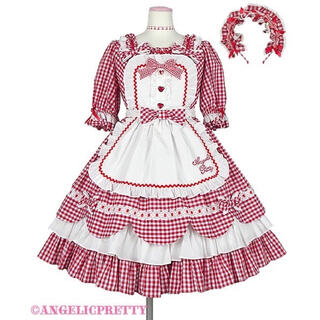Angelic Pretty - Angelic Pretty Heart Cafe ワンピース Set アカ