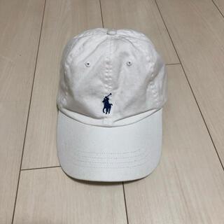 ポロラルフローレン(POLO RALPH LAUREN)のラルフローレン  キャップ 白×ネイビー(キャップ)