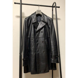 COMME des GARCONS HOMME PLUS - COMME des GARCONS 01aw サイケ期 レザーコート アーカイブ