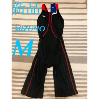 ミズノ(MIZUNO)の❣️新品 ミズノ ハーフスーツ 水着 [レディース]  ブラック×レッド M(水着)