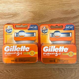 ジレ(gilet)のGillette フュージョン5+1パワータイプ替刃4個入✴︎2セット(カミソリ)