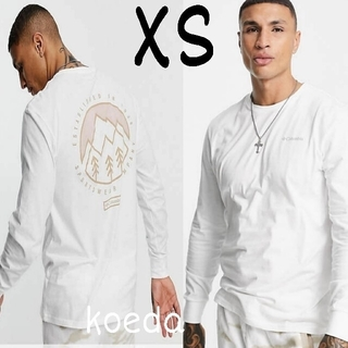 コロンビア(Columbia)のColumbia コロンビア ロンt 長袖 海外限定 ホワイト 白 海外XS(Tシャツ/カットソー(七分/長袖))