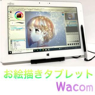 富士通 - 美品 ワコム 富士通 お絵描きタブレット Q584 Windowsタブレット