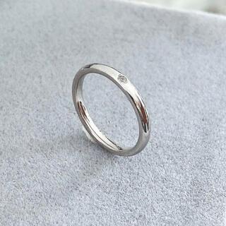 アネモネ(Ane Mone)のピンキーリン 1粒ダイヤリング ステンレスリング ステンレス指輪 ピンキーリング(リング(指輪))