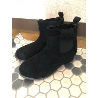 プティマイン(petit main)のPOMPKINS リボンブーツ 17 17.5 18 大人っぽい(ブーツ)