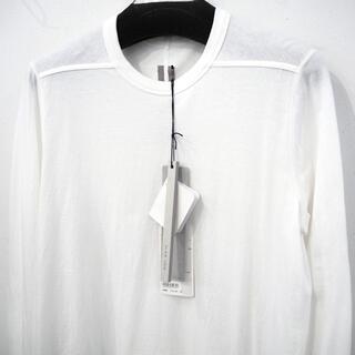 リックオウエンス(Rick Owens)の未使用 定価36720円 リックオウエンス LS LEVEL TEE ホワイト(Tシャツ/カットソー(七分/長袖))
