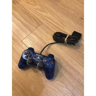 プレイステーション2(PlayStation2)のPS2 SONY純正 コントローラー デュアルショック2 オーシャンブルー(その他)