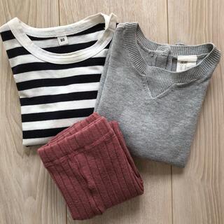 ムジルシリョウヒン(MUJI (無印良品))のこども服セット 秋冬(シャツ/カットソー)