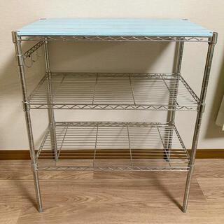 シルバーラック スチールラック メタルラック キッチン 収納 食器棚(棚/ラック/タンス)