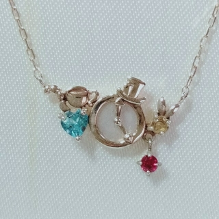 K10 イエローゴールド天然石ネックレス(ネックレス)