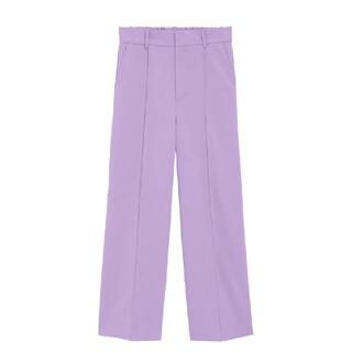 ジーユー(GU)のGU ジーユー 裏起毛 カラー ストレート パンツ Lサイズ 新品タグ付き(カジュアルパンツ)