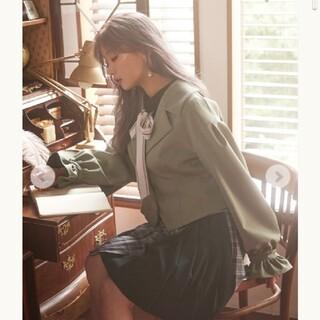 アクシーズファム(axes femme)のレースアップボリューム袖ジャケット(テーラードジャケット)
