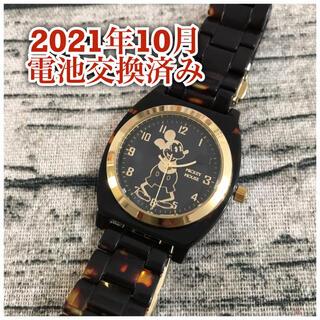 Disney - ディズニー オールドミッキー   ウォッチ べっ甲調 腕時計 レトロミッキー