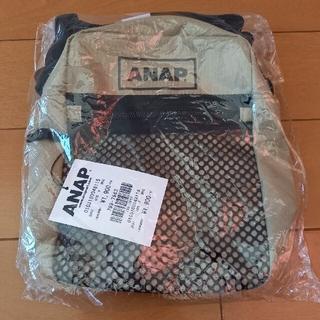 アナップ(ANAP)の♪新品 ANAPロゴサコッシュ ベージュ♪(ショルダーバッグ)