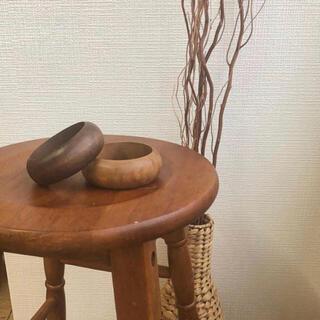 カスタネ(Kastane)のLawgy ウッドバングル ブラウン grain tone bangle(ブレスレット/バングル)
