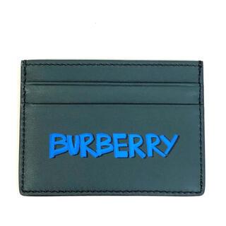 バーバリー(BURBERRY)のBURBERRY バーバリー メンズ カードケース 40771601 緑(名刺入れ/定期入れ)