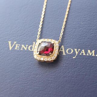 Vendome Aoyama - ヴァンドーム青山 ガーネット ダイヤモンド ネックレス k18YG
