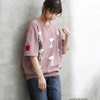 スヌーピー(SNOOPY)の新品 未着用 スヌーピー 綿100%USAコットンミニ裏毛プルオーバー(Tシャツ(半袖/袖なし))