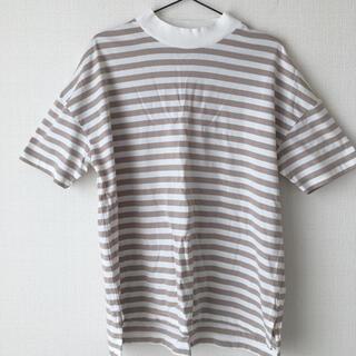 ナノユニバース(nano・universe)のnano universe ボーダーモックネックTシャツ(Tシャツ(半袖/袖なし))