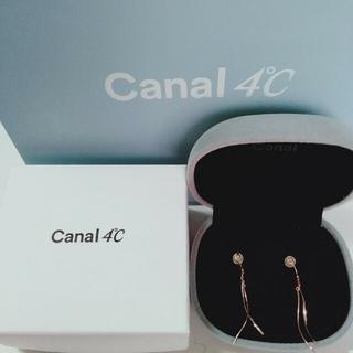 カナルヨンドシー(canal4℃)のcanaI4℃K10 ピンクゴールドピアス(ピアス)