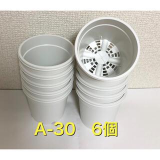 《A-30》6個 白 プラ鉢 3号 スリット鉢 多肉植物 生産者(プランター)