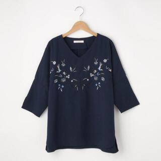 ショコラフィネローブ(chocol raffine robe)の新品 chocol raffine robe 刺繍ブラウス 7分袖(シャツ/ブラウス(長袖/七分))