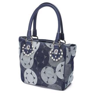 サボイ(SAVOY)の20%OFF完売品〓サボイ正規店〓デニム素材 バルーン柄 縦型ハンドバッグ コン(ハンドバッグ)
