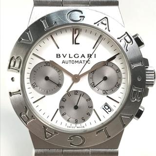 BVLGARI - ブルガリ CH35S ディアゴノ スポーツクロノ メンズ腕時計 シルバー