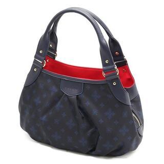 サボイ(SAVOY)の最新*人気商品〓サボイ正規店〓フラワーモノグラム柄 ハンドバッグ ブルー×レッド(ハンドバッグ)