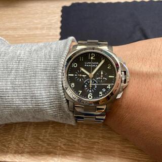 オフィチーネパネライ(OFFICINE PANERAI)のパネライ ルミノールクロノ PAM00072 エルプリメロ 付属品完備 国内正規(腕時計(アナログ))