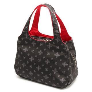 サボイ(SAVOY)の最新人気商品〓サボイ正規店〓フラワーモノグラム柄 ハンドバッグ ブラック×レッド(ハンドバッグ)
