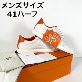 エルメス(Hermes)の【新品】エルメス メンズスニーカー クイッカー ロゴ サイズ41H(スニーカー)