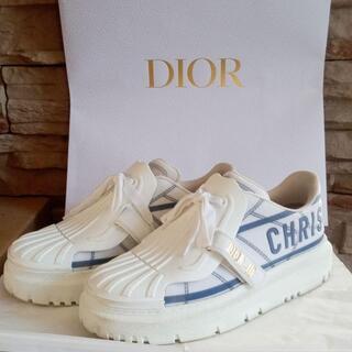 クリスチャンディオール(Christian Dior)のDIOR ディオール スニーカー ホワイト 37(スニーカー)