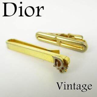 クリスチャンディオール(Christian Dior)のディオール ヴィンテージ メンズ タイピン タイ クリップ 2点セット(ネクタイピン)