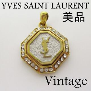 サンローラン(Saint Laurent)のイヴサンローラン 美品 ヴィンテージ ラインストーン ペンダントトップ(ネックレス)