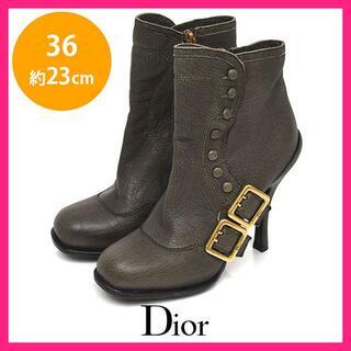 ディオール(Dior)のディオール ロゴベルト ショートブーツ 36(約23cm)(ブーツ)