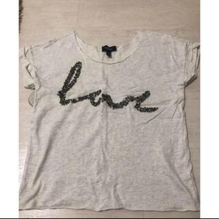マンゴ(MANGO)のMANGO ビジューTシャツ(Tシャツ(半袖/袖なし))
