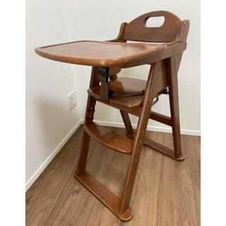KATOJI - カトージ ベビーチェア 木製  テーブル付き 折りたたみ
