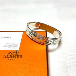 エルメス(Hermes)のHERMES T4 トゥアレグ レザー バングル ブレスレット エルメス(バングル/リストバンド)