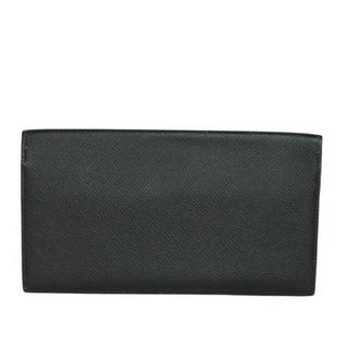 Hermes - エルメス シチズン ロング 二つ折り 長財布 オールレザー ブラック C刻印