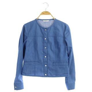 アナイ(ANAYI)のアナイ 19SS ノーカラージャケット デニムライク 34 青 ブルー(その他)
