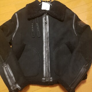 ワイスリー(Y-3)の美品Y-3 Yohji YamamotoムートンレザーM(レザージャケット)