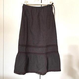 ボンポワン(Bonpoint)の【Bonpoint】ボンポワン スカート ブラウン ウエストゴム 6A(スカート)
