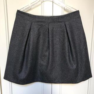 ボンポワン(Bonpoint)の【Bonpoint】ボンポワン スカート ウールカシミヤ グレー サイズS(スカート)