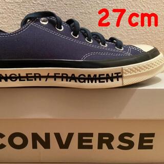 フラグメント(FRAGMENT)の27cm converse×moncler×fragment新品正規NAVY(スニーカー)