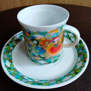 ローゼンタール(Rosenthal)のローゼンタール デミタスカップ&ソーサ4客(グラス/カップ)